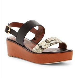 Cole Haan Cambon Snake Wedge Sandal